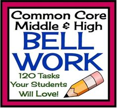 A Year of Bell Work For Middle/High English Language Arts