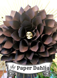 Hi Sugarplum   Easy Paper Dahlia for Halloween decor
