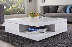 Stolik Corner wykonany jest z MDF-u lakierowanego na biało. Zaletą stolika są szuflady, które otwierają się prostopadle. Jest to niezwykle wygodne rozwiązanie, gdy w salonie korzystamy z naroźnika.