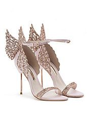 Sandale Evangeline rose avec brillants
