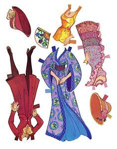 Paper Dolls~Golden Dream Barbie - Bonnie Jones - Álbuns da web do Picasa