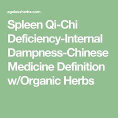 Spleen Qi-Chi Deficiency-Internal Dampness-Chinese Medicine Definition w/Organic Herbs