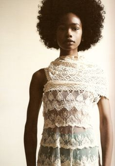 Wakeema Hollis.model (I can never get enough of lace designs) <3