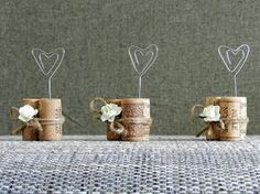 Place Card Holders Wine Tasting Party Decor Winery Wedding Decor Wine Cork Place Card Holder Rustic Wedding Table settings Set of 15 Wedding Places, Wedding Place Cards, Bridal Shower Decorations, Diy Wedding Decorations, Blush Rosa, Wine Tasting Party, Diy Décoration, Rustic Wedding Seating, Wedding Table