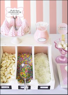 Desserts/Favor Organization: divided box of goodies. Photo Credit: coco + kelley via eat drink chic