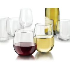 #9: Libbey Vina 12-Piece Stemless Red and White Wine Glasses in Clear