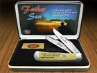 CASE XX Father & Son Yellow Delrin Trapper Stainless Pocket Knives Knife