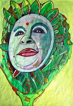 """Saatchi Art Artist Cora de Lang; Painting, """"BIO LOGISCH"""" #art"""