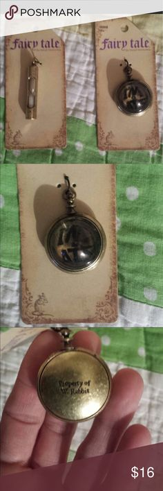 Disney antiquated pendants! So cute! The hourglass even works! Individually $10. Thanks! Disney Jewelry Necklaces