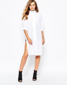 Bild 4 von The Laden Showroom X Mirror Mirror – Kleid mit Fledermausärmeln und mit hohem Kragen