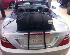 Die Alternative zu einem Gepäckträger für lhren Mercedes SLK.Hinzufügen von Wasserdicht 50 Liter Gepäckraum