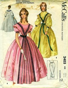 McCall's 2403 GONE WITH The WIND Costume Pattern by PatternPeddler, $24.95
