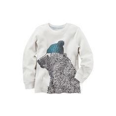 Baby Boy Carter's Polar Bear Thermal Long Sleeve Tee, Size: 9 months, White Oth