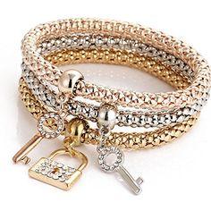 Elastic Bracelet With Alloy Crystal Rhinestone Key Lock F... https://www.amazon.com/dp/B01N1ORTTN/ref=cm_sw_r_pi_dp_x_XPJryb44D924M