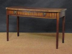 Sale D051115 Lot 458  A Regency mahogany bow front serving table, 77 x 127 x 58cm Full Details for Lot 458 - Cheffins