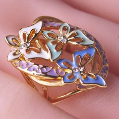 Ename Butterfly Rings For Lovers Couple Ring Design Cheap Engagement Anillos Aneis Promise Anel De Ouro Aneis My Orders Bijoux