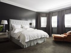 Dark yet bright bedroom. desire to inspire - desiretoinspire.net - Park House