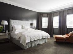Dark yet bright bedroom. desire to inspire - desiretoinspire.net - ParkHouse