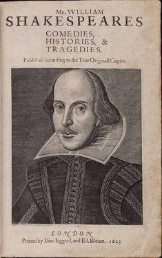 Обложка первого издания комедий  и трагедий У. Шекспира. 1623 год