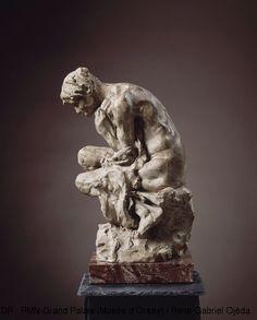 Musée d'Orsay: Sculpture - Jules Desbois - la misère (altro esemplare)