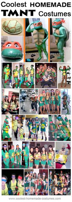 Homemade Teenage Mutant Ninja Turtles Costume Ideas - Coolest Halloween Costume Contest