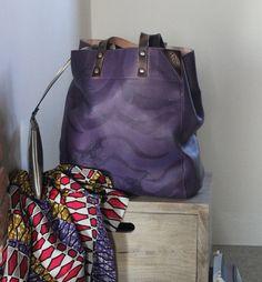 Leather shoulder bag by UNIKBAG on Etsy