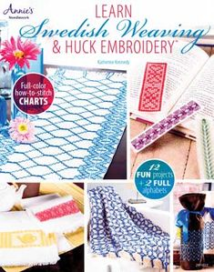 Learn Swedish Weaving & Huck Embroidery - $12.95 : MonksClothLady.com, your one-stop source for Top Quality Monks Cloth!