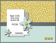 Paper Craft Crew Card Sketch 111. #papercraftcrew #stampinup #cardsketch
