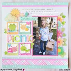 This adorable layout was created using Photo Play and Doodlebug Design Paper and Embellishments.