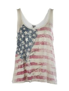 Flag Striped Graphic Tank    (I really wish Romantic Rock would have come out earlier in July as a theme, that way this could have sold for the 4th!)