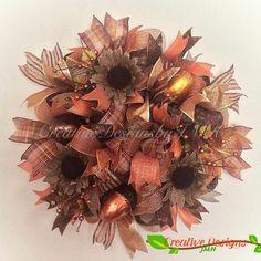 Fall Deco Mesh, Deco Mesh Wreaths, Holiday Wreaths, Door Wreaths, Holiday Decor, All Holidays, Fall Decor, Fall Winter, Halloween
