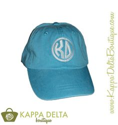 Say goodbye to your bad hair days with the KD Boutique Blue Monogram Pigment Washed Hat