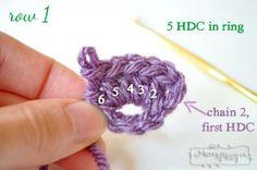 Crochet Ear Warmers - Row 1