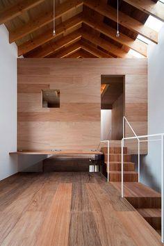 Modern Japanese Interior, Modern Interior Design, Interior Design Inspiration, Interior And Exterior, Timber Architecture, Architecture Design, Cabana, Plywood House, Tiny House