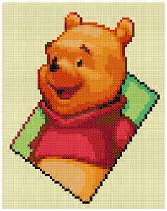 PDF Cross Stitch pattern 0259.Winnie the Pooh by PDFcrossstitch