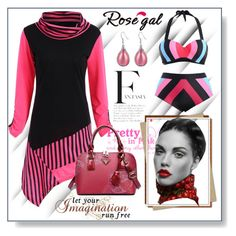"""Black And Rose Red-30"" by ane-twist ❤ liked on Polyvore featuring John Galliano"