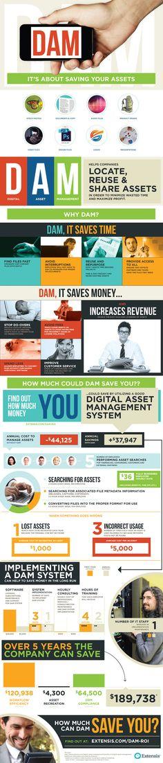 Gestión de activos digitales #infografia #infographic Digital - digital assets management resume
