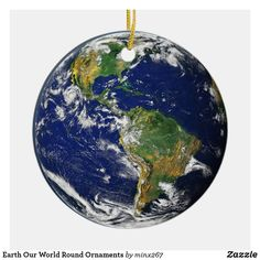Shop Earth Our World Round Ornaments created by Personalize it with photos & text or purchase as is! Earth Photos, World Globes, Animal Skulls, All Gifts, Our World, White Elephant Gifts, Pink And Green, Christmas Bulbs, Art Pieces