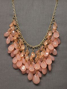 Falling In Pink Necklace-pretty fashion jewelry necklace, cute fashion jewelry necklace, statement necklace