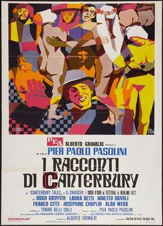 The Canterbury Tales (Pier Paolo Pasolini, 1971) Italian 2-Foglio design by Sandro Simeoni