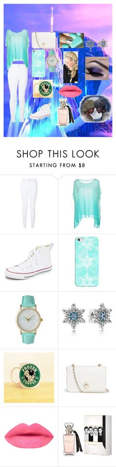 """""""Elsa"""" by alexhoran0720 on Polyvore featuring Disney, GUESS, Converse, Casetify, Olivia Pratt, Pandora, Tory Burch, women's clothing, women and female"""