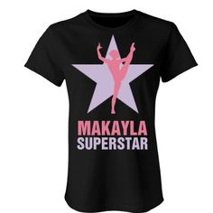 Makayla. Superstar  | An absolutely lovely gymnastics t-shirt. Beautiful colours and quality is number one.
