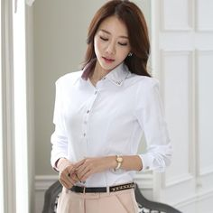 Office Blouse Shirt White Elegant Spring Body Tops Kimono Women Clothing Classical Blusas Femininas Casual Ladies Female Tops