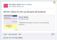 Our blog post about the new changes for Facebook Timeline for pages (blog post in norwegian)