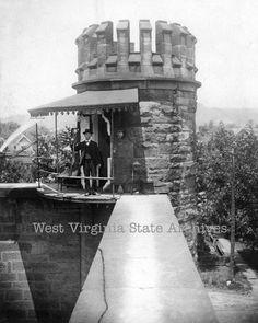 historic west virginia | Old West Virginia penitentiary guard tower, corner of Eighth Street ...