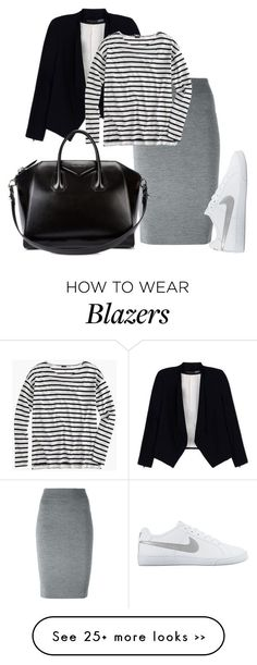 """""""Commute"""" by tynestar on Polyvore featuring Alexander McQueen, NIKE, Alice + Olivia, J.Crew and Givenchy"""