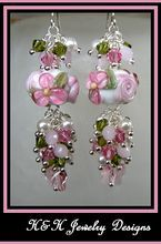 Step into spring with these US artisan made lampwork earrings!
