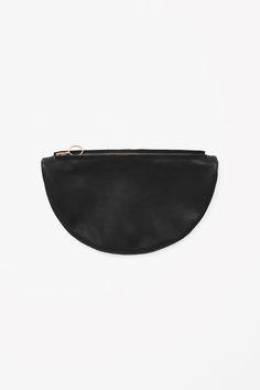 COS   Round zip clutch