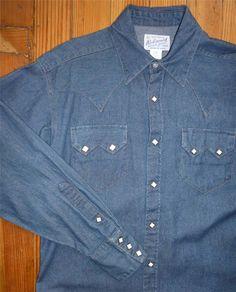 Women's Classic Stonewash Denim Sawtooth Western Shirt | Rockmount Ranch Wear