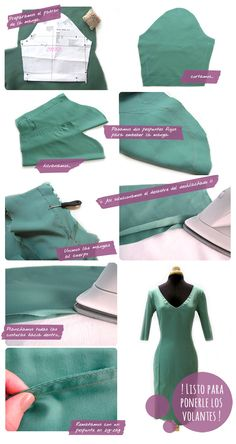 ¿Cómo hacer un vestido de flamenca? Parte I. Diseño general y cuerpo del vestido